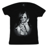 Mens Black GDA Hidden Skull Woman Graphic Tee T-Shirt