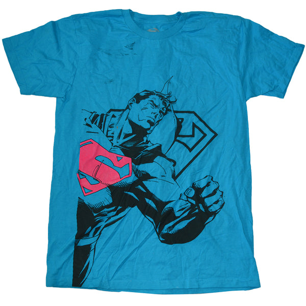 Boys Blue Superman Graphic Tee T-Shirt