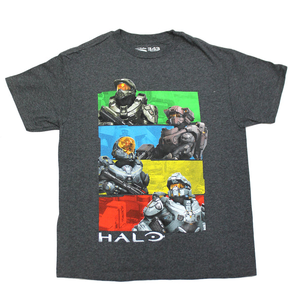 Boys Youth Halo Spartan Heroes Color Block Tee T-Shirt