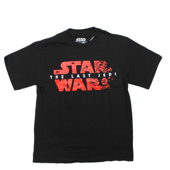 Mens Black Red Star Wars The Last Jedi Shatter Graphic Tee T Shirt