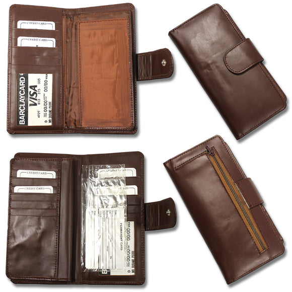 CB 0077-Brown Womens Brown wallet