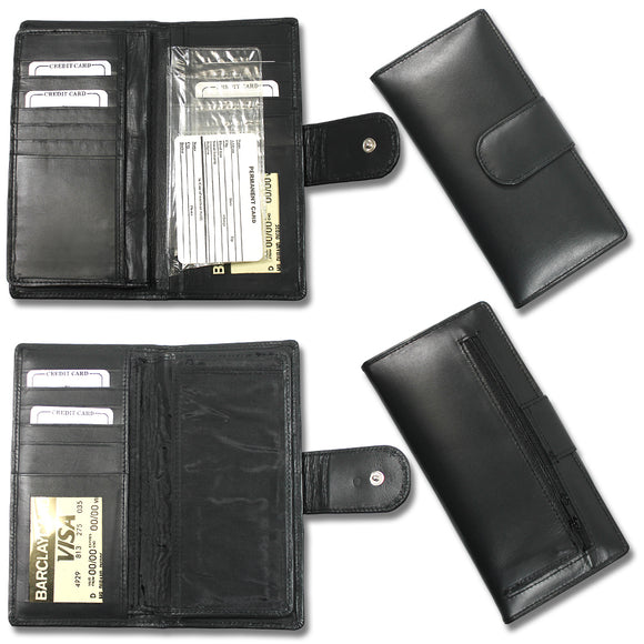 CB 0077-Black Womens Black wallet