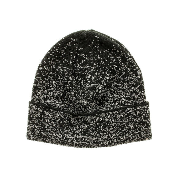 Black Gray Space Dye Xersion Fleece-Lined Cuff Beanie Winter Cap