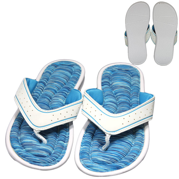 White & Blue Stripe Sandal