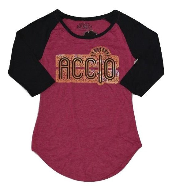 Womens Juniors Fantastic Beasts and Where to Find ACCLO Raglan Tee T-Shirt