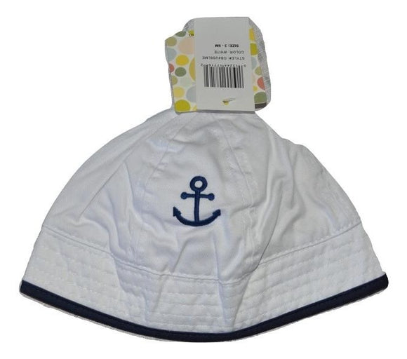 Little Me 3-9M Baby White Sailor Anchor Hat