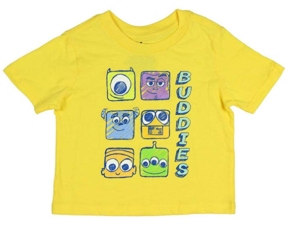 Disney Baby Buddies Characters Yellow Tshirt