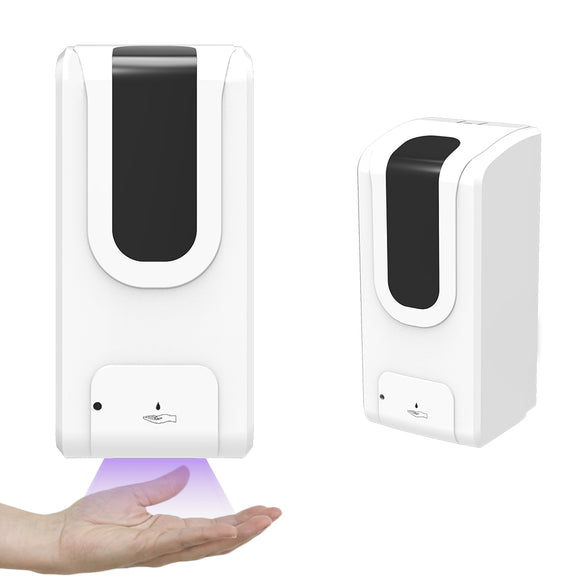 Automatic Touchless Soap Sanitizer Dispenser Wall-Mounted UV Disinfection Lamp Large Capacity 33 OZ / 1000 ML