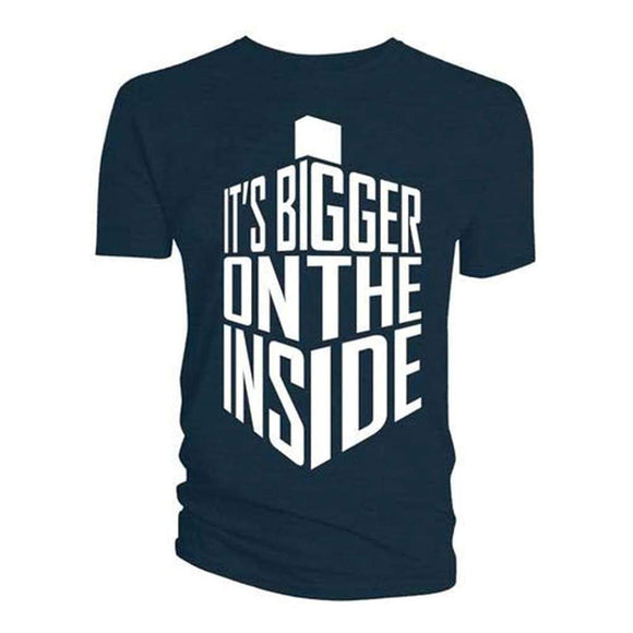 Mens Navy Doctor Who: T-Shirt: Bigger on the Inside Tee T Shirt