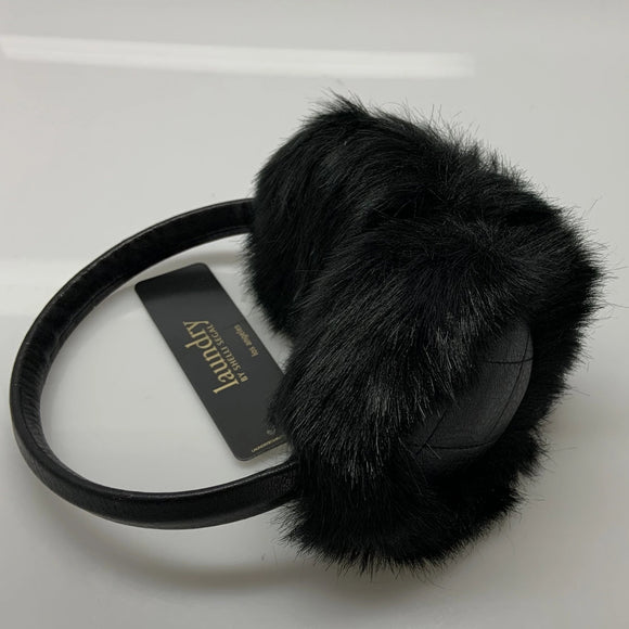Laundry By Shelli Segal Black Faux Fur Warmer Earmuffs