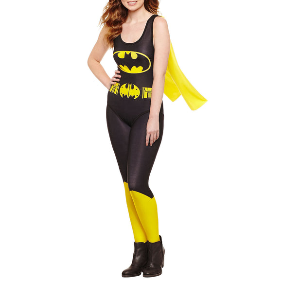 Womens Juniors Batman Cape Bodysuit