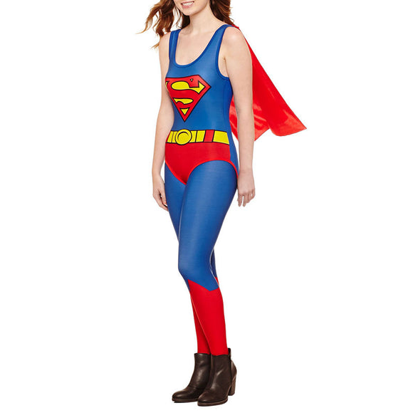 Womens Juniors Superman Cape Bodysuit
