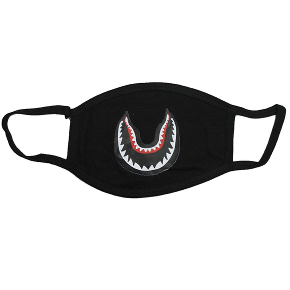 100 PCS Shark Teeth 3-Layer Protect America Washable Face Mask Reusable 100% Cotton