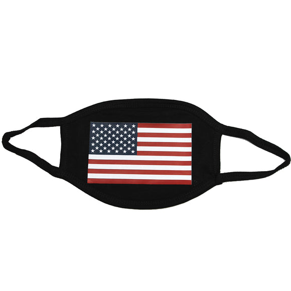 100 PCS USA Flag 3-Layer Protect America Washable Face Mask Reusable 100% Cotton