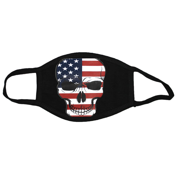 100 PCS USA Skull 3-Layer Protect America Washable Face Mask Reusable 100% Cotton