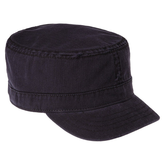 Men's Herringbone Cadet Hat - Black