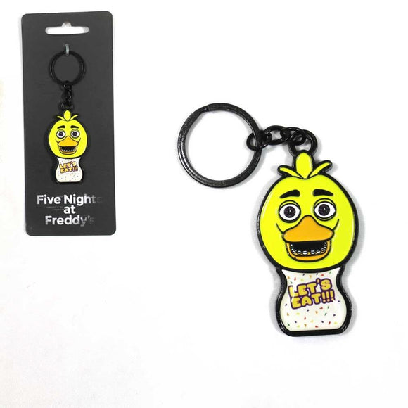 Five Nights at Freddy's Let's Eat Bird Metal Keychain Licensed
