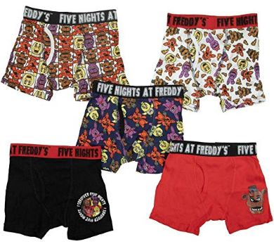 Boy's Five Nights At Freddys Boys Boxer Briefs 5 Pack