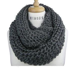 Faded Glory Women's Chunky Knit Cowl Fashion Scarf