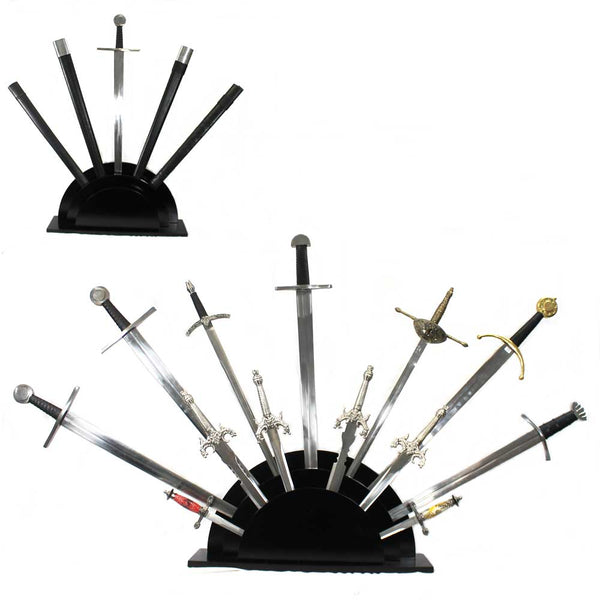 Fan Sword Stand - 13 piece wood sword stand