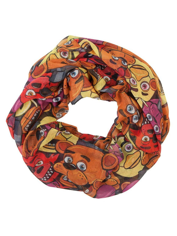 Five Nights at Freddy's Toss Heads Infinity Viscose Scarf Video Game