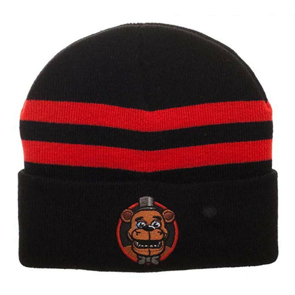 Five Nights at Freddy's Fiber Optic Cuff Beanie With LED Lights