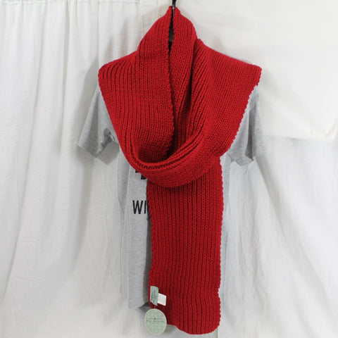 Free Authority Red chunky knit long scarf