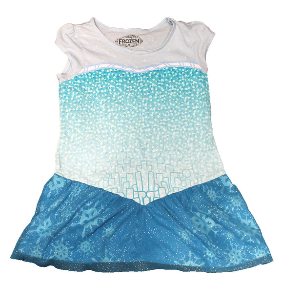 Girls Youth Disney's Frozen Elsa Blue Sparkle Dress