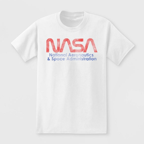 Men's NASA Short Sleeve Graphic White T-Shirt Tee