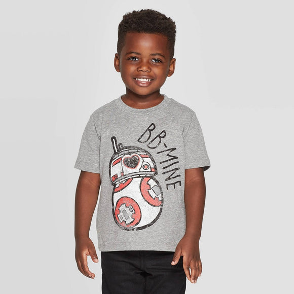 Boys Toddler Gray Star Wars BB-Mine Graphic Tee T-Shirt