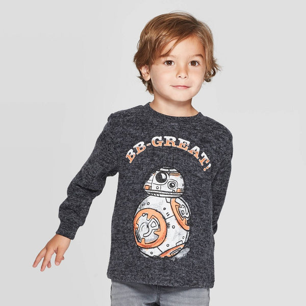 Boys Toddler Star Wars BB-Great Long Sleeve Tee T-Shirt
