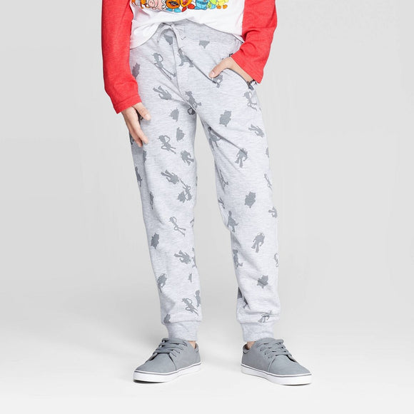Boys Youth Toy Story All Over Print Knit Jogger Pants Heather Gray
