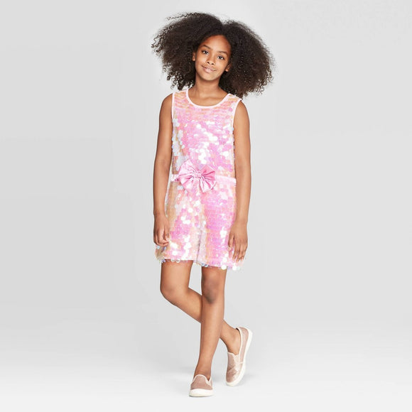 Girls Youth JoJo's Closet Pink Sequin Romper