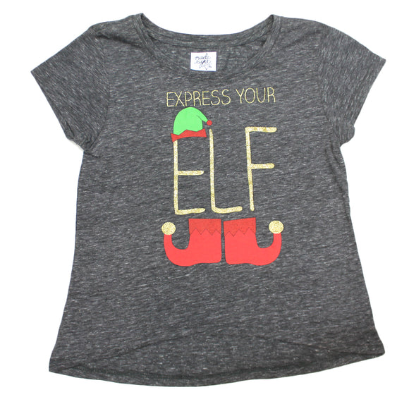 Girls Youth Express Your Elf Christmas Holiday Tee T Shirt