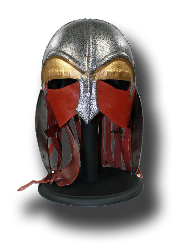 HL 107 Life-Size Leather/Steel Viking Helmet with Stand