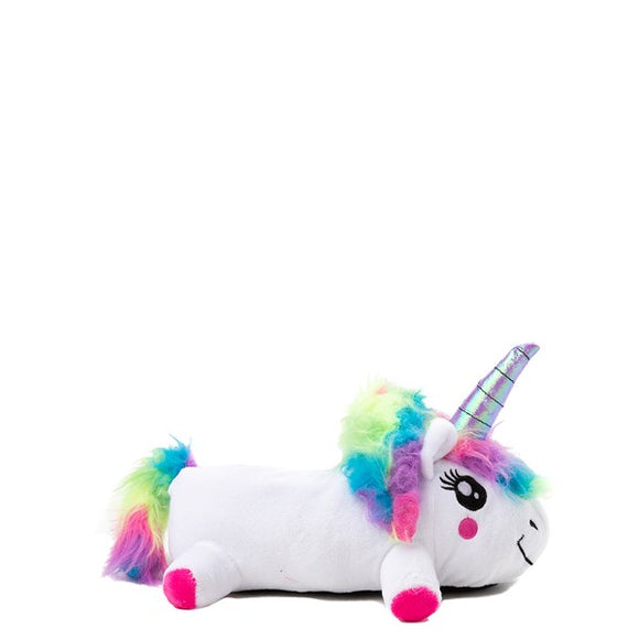 White Light Up Unicorn Slippers LED Lights