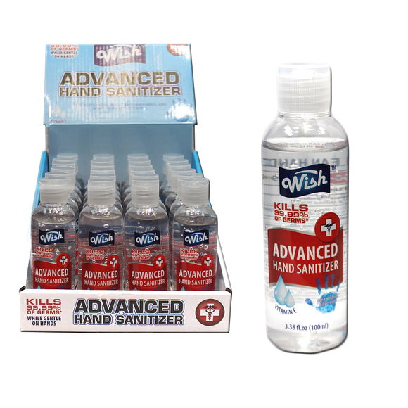 WS 60211 24 PCS Advanced Hand Sanitizer Display Box 3.38 FL OZ