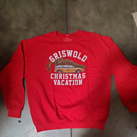 Men's Red Griswold Christmas Vacation Holiday Sweater