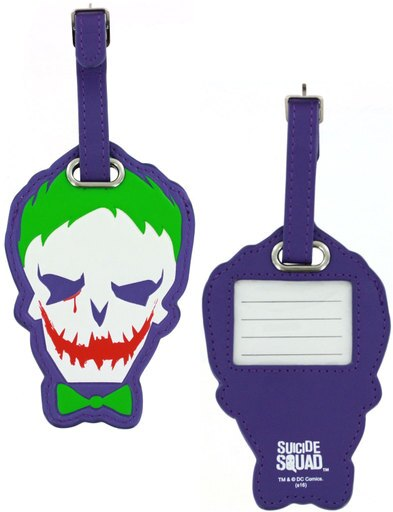 Suicide Squad Joker PU Leather Luggage Tag DC Comics Gift