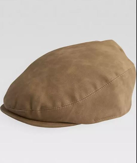 Mens Free Authority Light Brown Ivy Hat Driving Cap