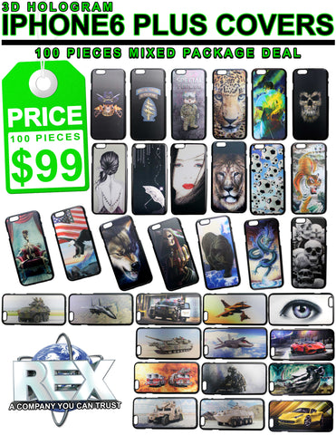 $99 for 100 I PHONE 6 PLUS PHONE COVERS