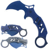 "KS 1747-BL 5"" Blue Assist-Open Karambit Folding Knife"