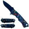 "KS 1804-1 4.5"" Snake & Skull Handle Assist-Open Tactical Folding Knife"