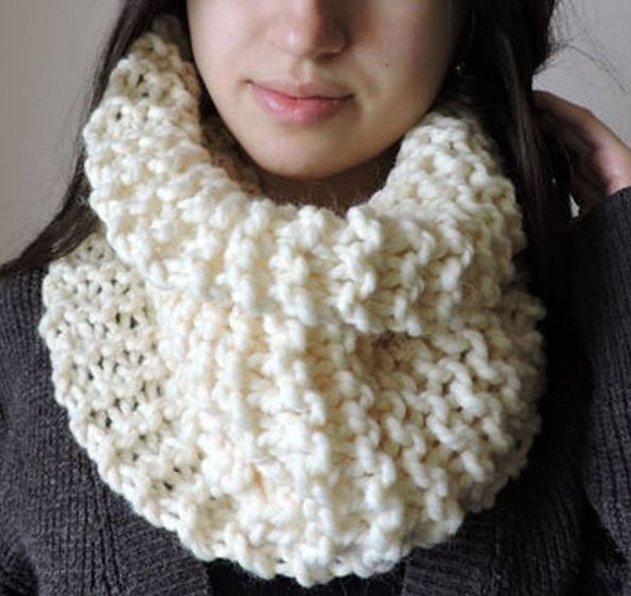 Knit Chunky Cowl Scarf Neck Warmer by Wilsons Leather