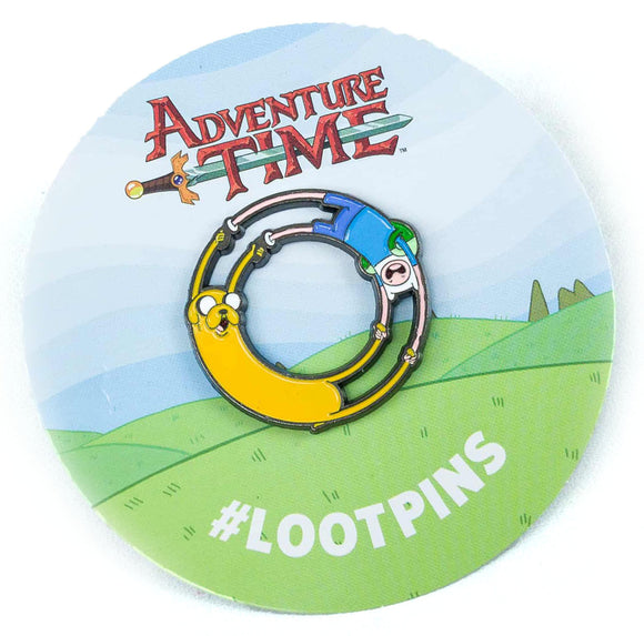 Loot Crate Adventure Time Fin & Jake Enamel Pin