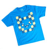 Women's Blue Adventure Time Fin Graphic Tee T-Shirt Loot Crate Exclusive