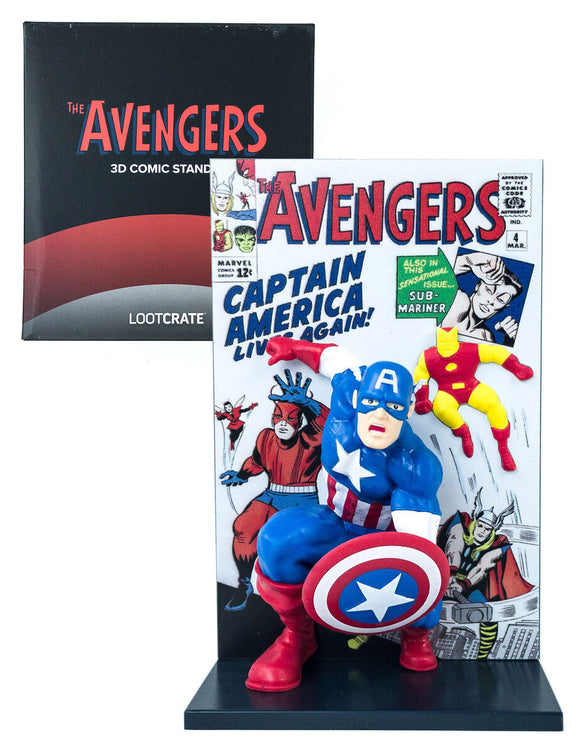 Captain America Avengers Comic Collectible Figure 3D Comic Standee