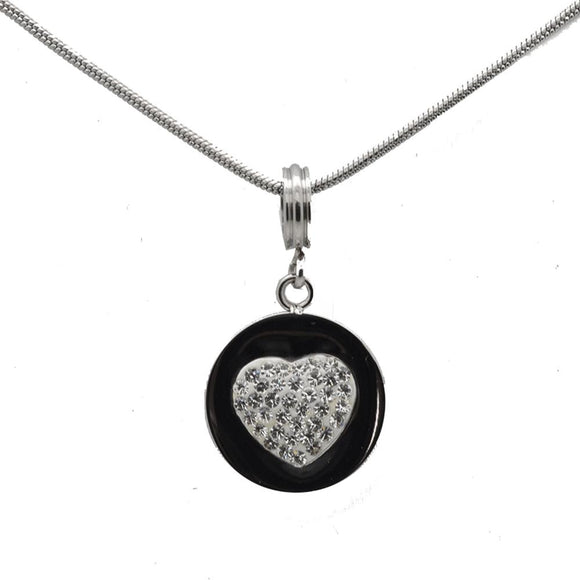 Connections From Hallmark™ Stainless Steel Crystal Heart Starter Necklace 18
