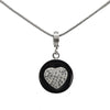 "Connections From Hallmark™ Stainless Steel Crystal Heart Starter Necklace 18"" Chain + 2"" Ext."