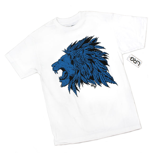 Mens LRG Lifted Research Group Lion Tree Plant Weed White Tee T Shirt
